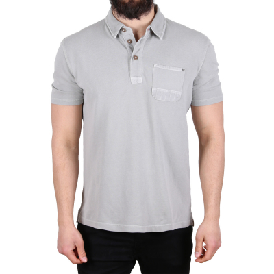 1531062.00.10 Tom Tailor Overdyed With Pocket Herren Polo Shirt | 04059491102980