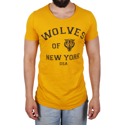 K16049 D & A Lifestyle Wolves Of New York Washed Herren T-shirt | 02018755900054
