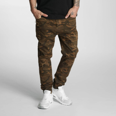 WSYJS110BROCAMO Who Shot Ya Genius Herren Anti Fit Jeans  Bundweite | 04056189323436