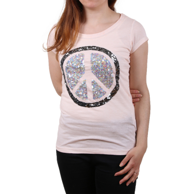 D1206G01081A Sublevel Ladies Peace Logo Damen T-shirt | 04052737532039