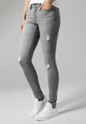 TB1362 Urban Classics Ladies Ripped Denim Pants Damen Jeans  Bundweite | 04053838135150