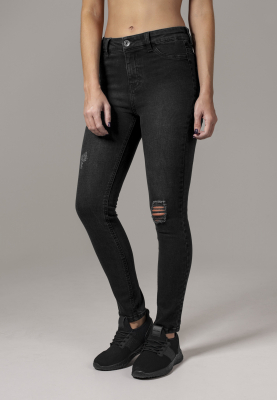 TB1539 Urban Classics Ladies High Waist Skinny Denim Pants Damen Jeans Sch Bundweite | 04053838152386