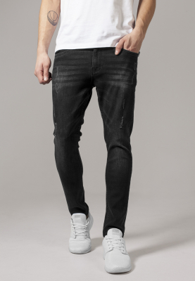 TB1606 Urban Classics Skinny Ripped Stretch Denim Pants Herren Skinny Fit  Bundweite | 04053838167557