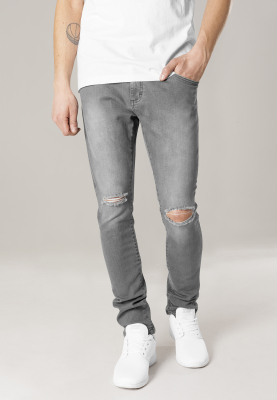 TB1652 Urban Classics Slim Fit Knee Cut Denim Pants Herren Slim Fit Jeans  Bundweite | 04053838181614