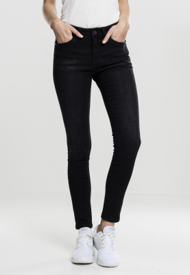 TB1739 Urban Classics Ladies Skinny Denim Pants Damen Jeans  Bundweite | 04053838195925
