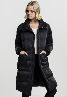 TB1765 Urban Classics Ladies Oversized Puffer Coat Damen Winterjacke chwarz | 04053838211359