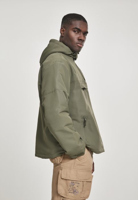 Brandit Fleece Pull Over Herren Windbreaker Olive