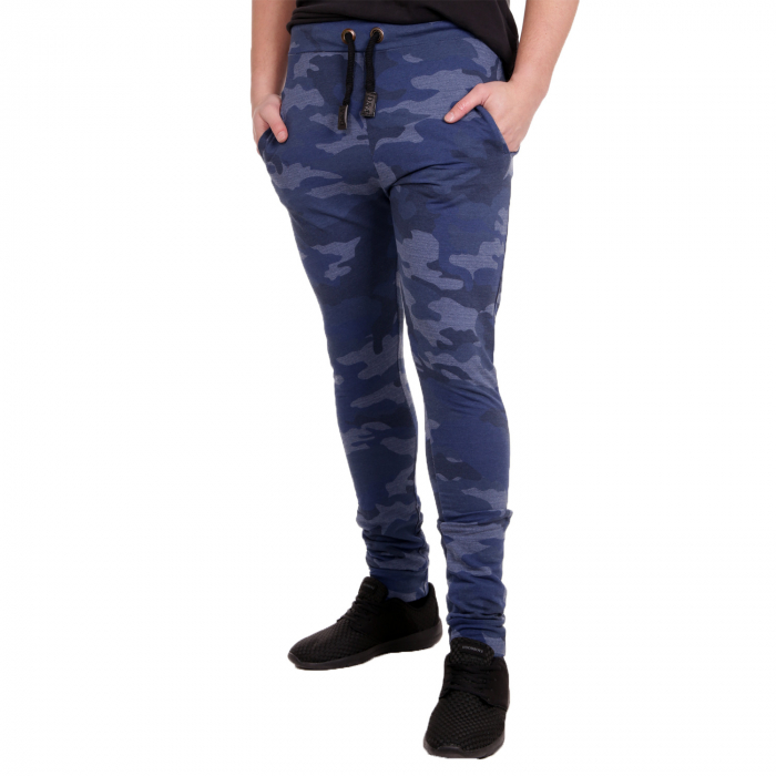 D & A Lifestyle Army Style Tarn Herren Jogginghose Blau Camouflage