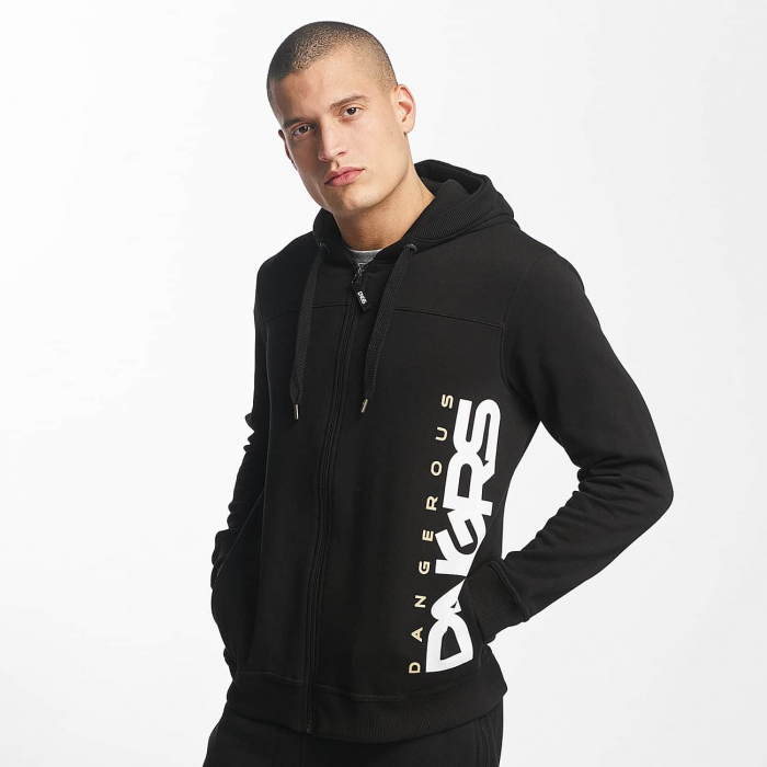 dangerous dngrs classic herren zip hoodie schwarz 514909. Black Bedroom Furniture Sets. Home Design Ideas