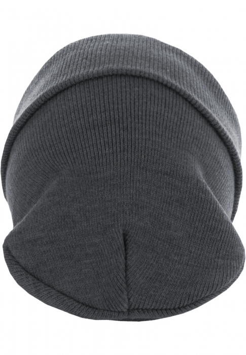 MasterDis Beanie Basic Flap Long Version Mütze Hellgrau
