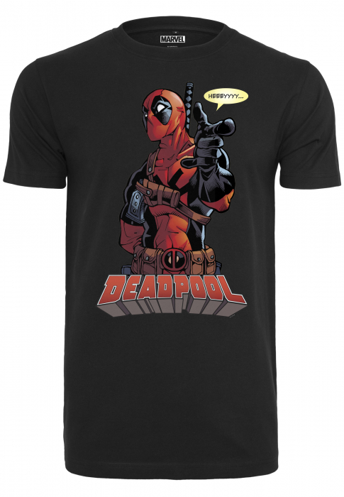 Merchcode Deadpool Hey You Tee Herren T-Shirt Schwarz
