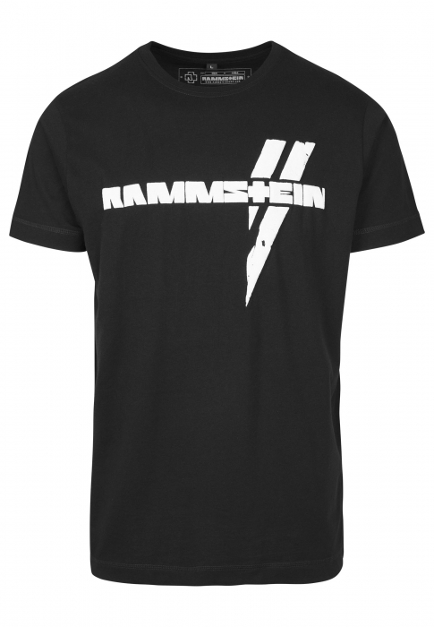 rammstein rammstein wei e balken tee herren t shirt schwarz 517596 bei kapatcha. Black Bedroom Furniture Sets. Home Design Ideas