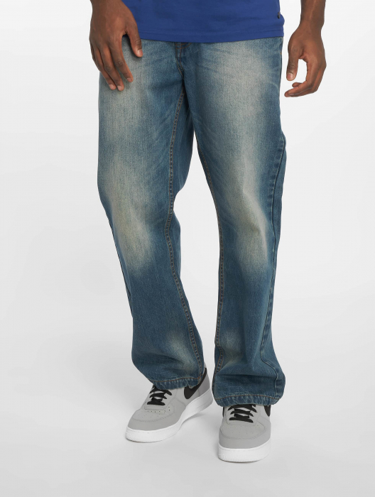 Rocawear WED Herren Loose Fit Jeans Blau
