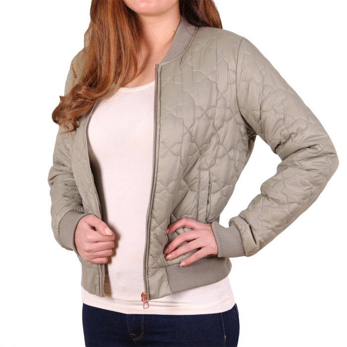 Tom Tailor Denim Ladies Padded Bomber Damen Bomberjacke Olive