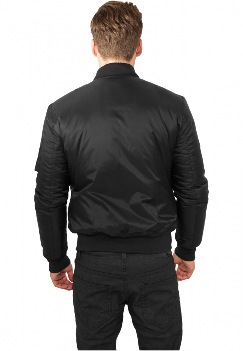 Urban Classics Basic Men Bomber Jacket black