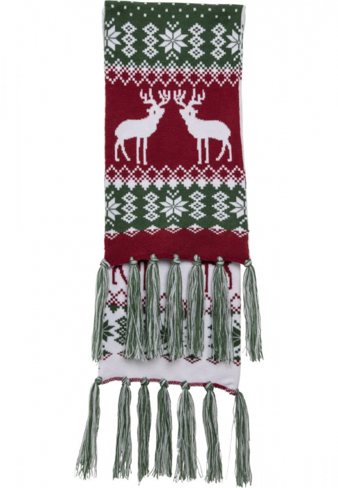 Urban Classics Christmas Scarf Men Other green red