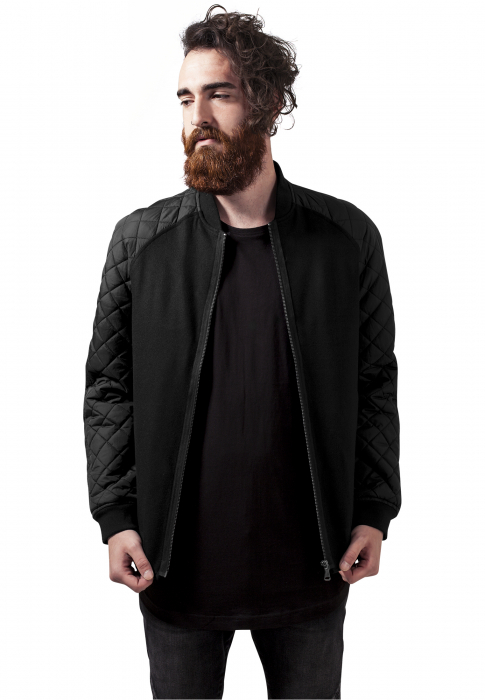 Urban Classics Diamond Nylon Wool Men Summer Jacket black black