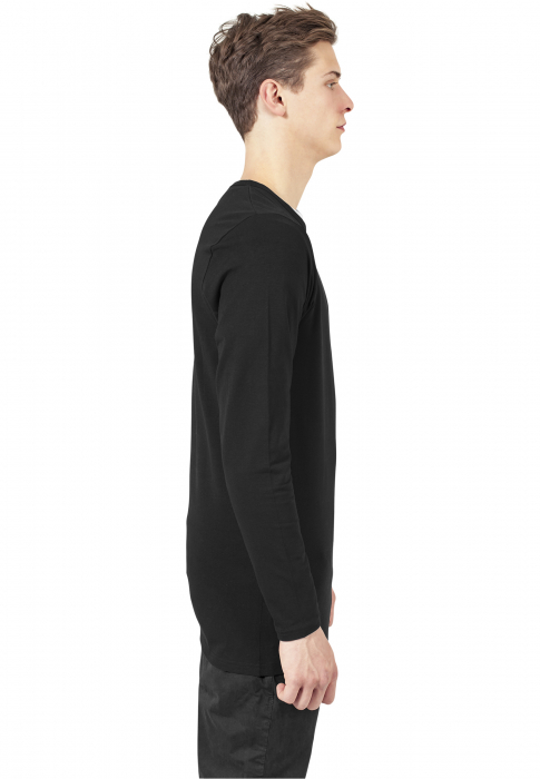 Urban Classics Fitted Stretch L/S Tee Men T-Shirt black