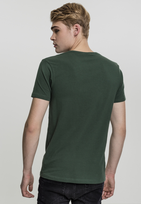 Urban Classics Fitted Stretch Tee Herren T-Shirt Dunkelgrün