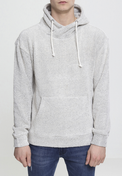 Urban Classics High Neck Loop Terry Herren Hoodie Hellgrau