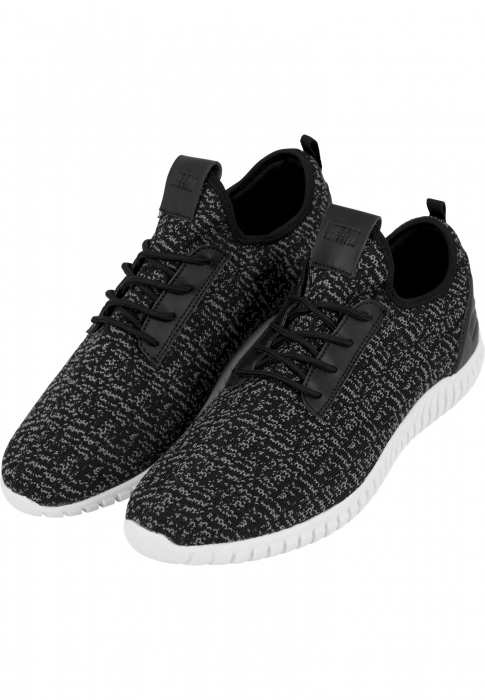 Urban Classics Knitted Light Runner Shoe Low Sneaker black grey