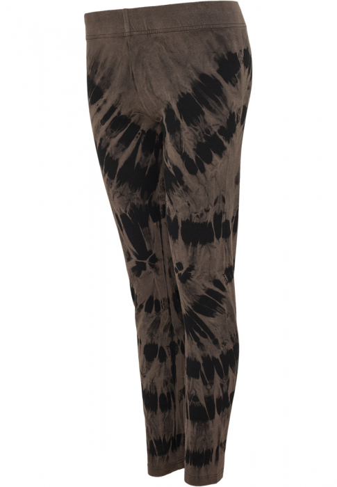 Urban Classics Ladies Acid Wash Splash Damen Leggings Schwarz Grau