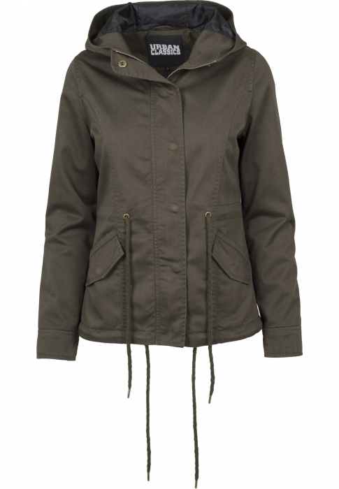 Urban Classics Ladies Basic Cotton Parka Damen Winterjacke Olive