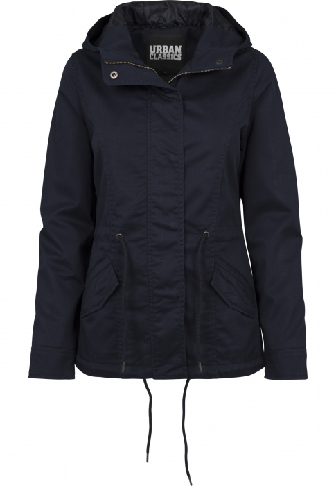 Urban Classics Ladies Basic Cotton Parka Women Winter Jacket navy