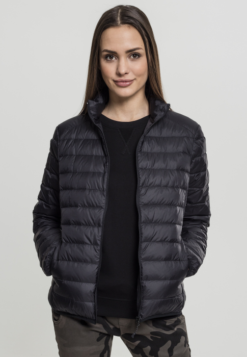 Urban Classics Ladies Basic Down Damen Übergangsjacke Schwarz