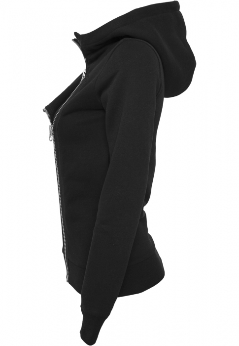 Urban Classics Ladies Biker Sweat Damen Übergangsjacke Schwarz
