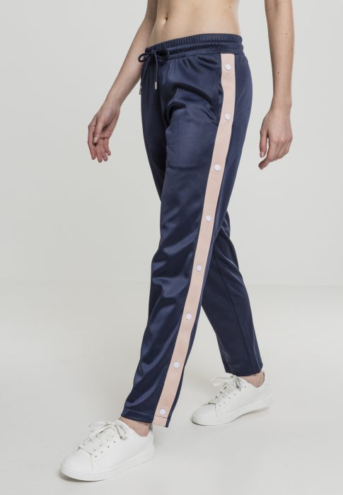 Urban Classics Ladies Button Up Track Pants Women Sweat Pant navy rose