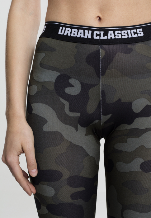 Urban Classics Ladies Camo Logo Damen Leggings Camouflage
