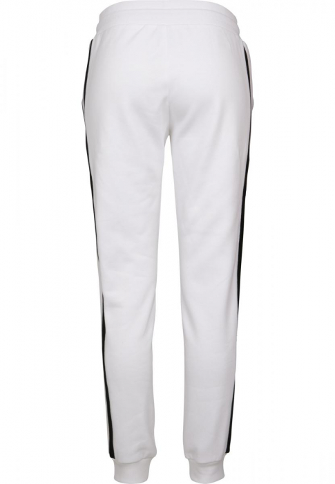 Urban Classics Ladies College Contrast Women Sweat Pant white black