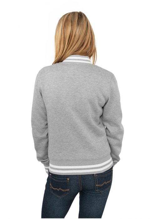 Urban Classics Ladies College Sweatjacket Damen College Jacke Grau
