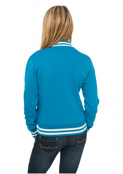 Urban Classics Ladies College Sweatjacket Damen College Jacke Türkis