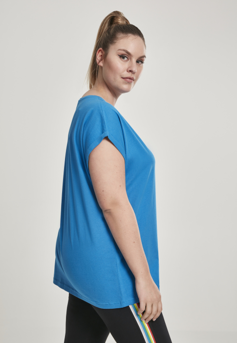Urban Classics Ladies Extended Shoulder Tee Damen T-Shirt Blau