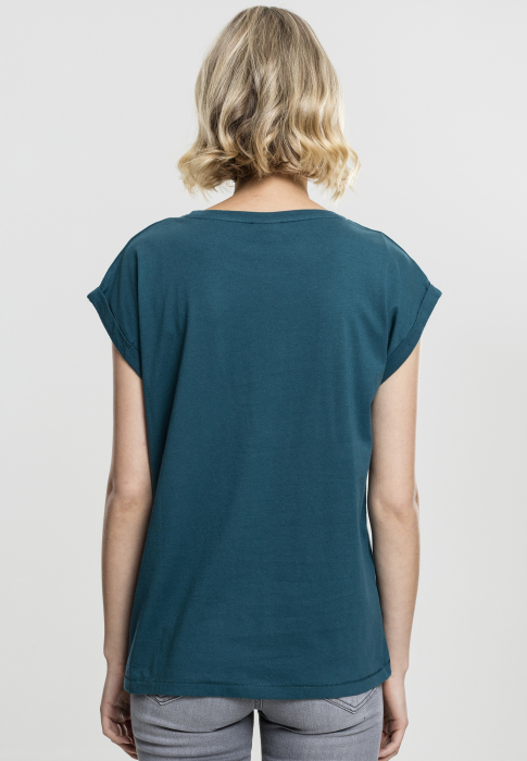 Urban Classics Ladies Extended Shoulder Tee Damen T-Shirt Dunkelblau