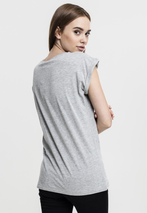 Urban Classics Ladies Extended Shoulder Tee Women T-Shirt grey