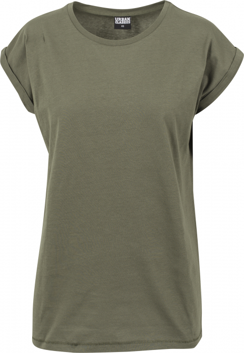 Urban Classics Ladies Extended Shoulder Tee Women T-Shirt olive