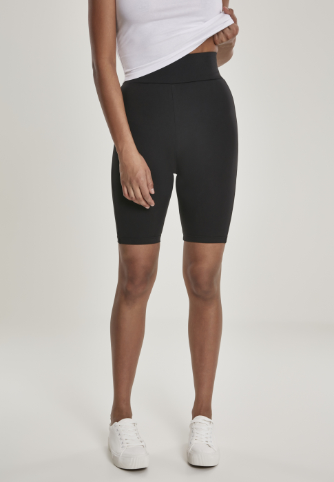 Urban Classics Ladies High Waist Cycling Damen Short Schwarz