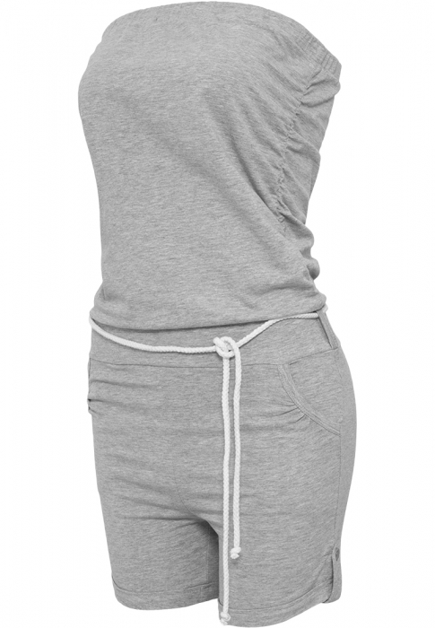 Urban Classics Ladies Hot Turnup Jumpsuit Damen Overall Grau