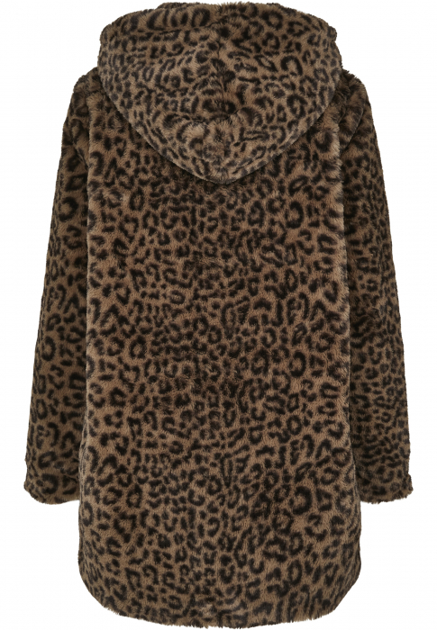 Urban Classics Ladies Leo Teddy Coat Damen Winterjacke Dunkelblau