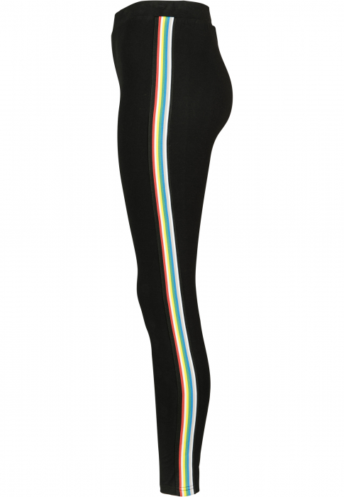 Urban Classics Ladies Multicolor Side Taped Damen Leggings Schwarz