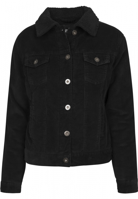 Urban Classics Ladies Sherpa Cordury Women Transition Jacket black black