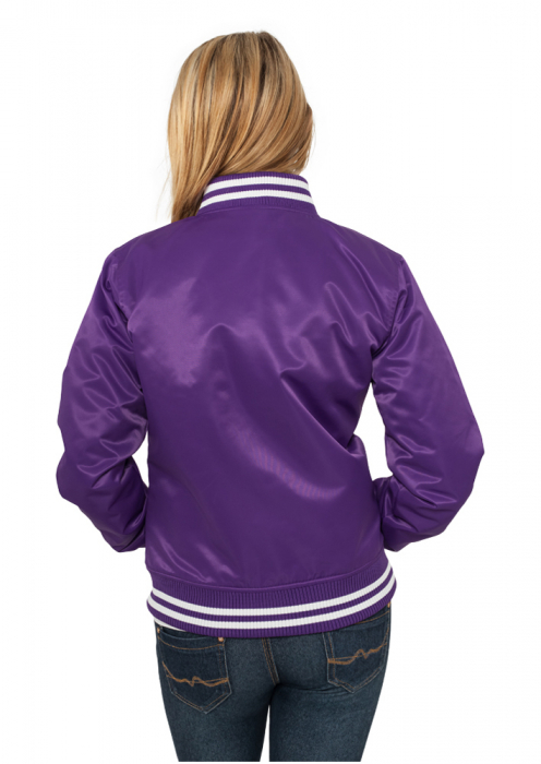 Urban Classics Ladies Shiny Women College Jacket purple white