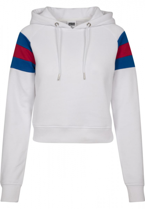 Urban Classics Ladies Sleeve Stripe Women Hoody white sky blue