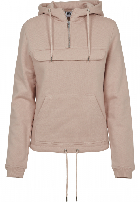 Urban Classics Ladies Sweat Pull Over Damen Kapuzenpullover Rosa