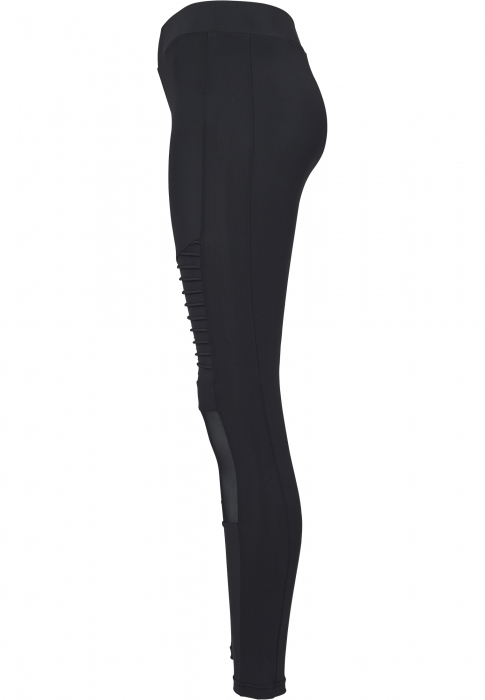 Urban Classics Ladies Tech Mesh Biker Damen Leggings Schwarz