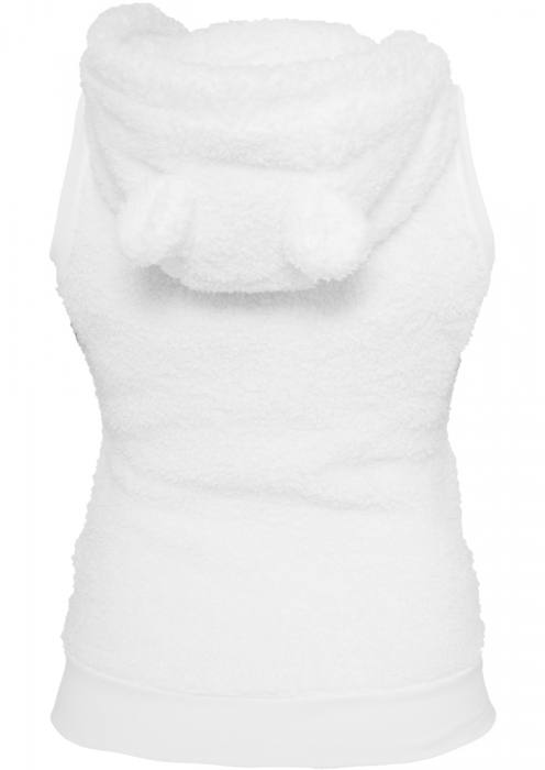 Urban Classics Ladies Teddy Vest Damen Weste Weiß