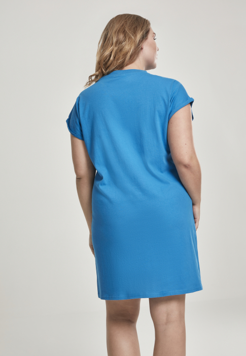 Urban Classics Ladies Turtle Extended Shoulder Damen Kleid Blau